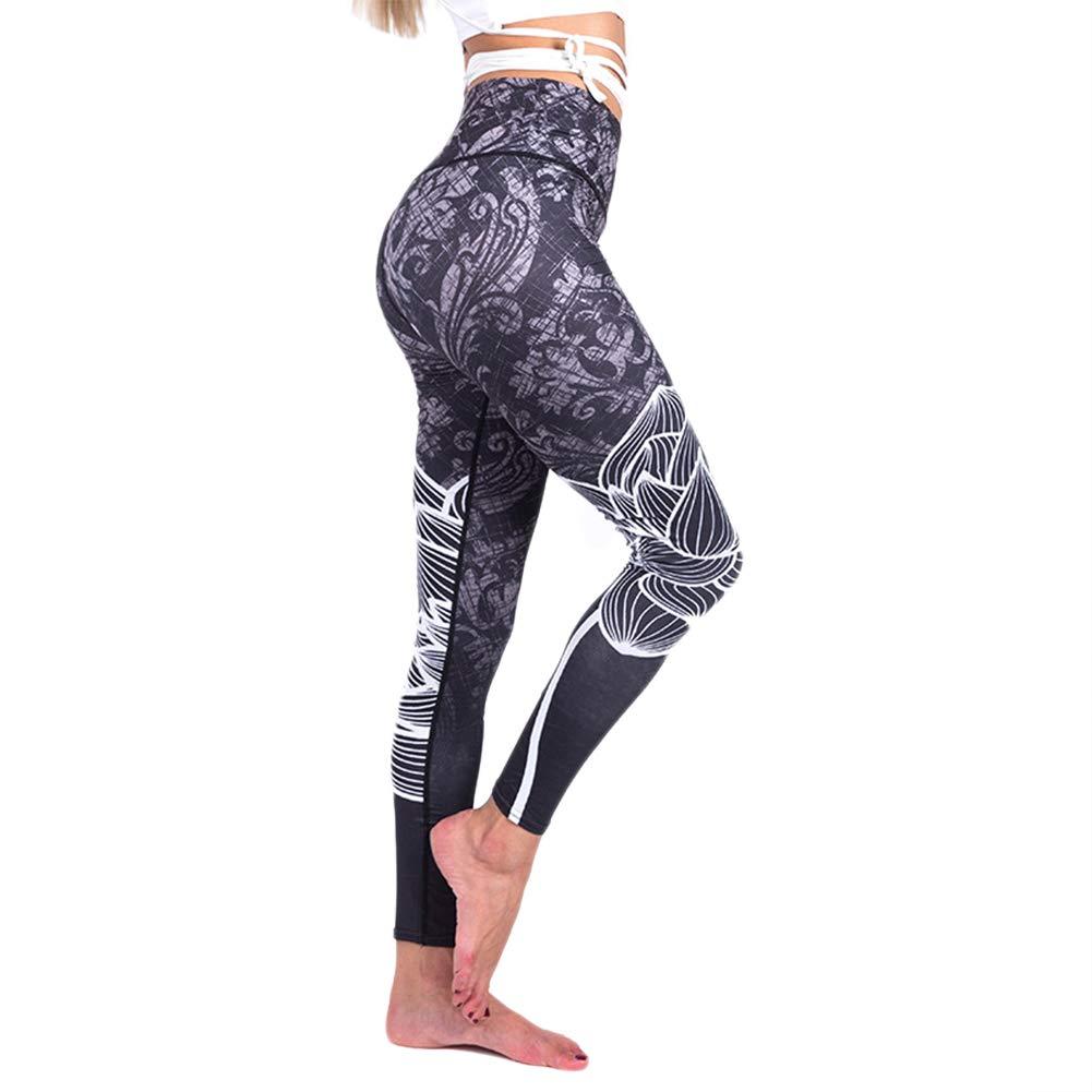 Leisial Moda Pantalones de Yoga Slim para Mujer Leggings ...