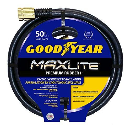 Swan Products Goodyear CGYSGC58050 Maxlite Crush Proof Garden Hose 50 ft, 5/8 diameter, Black