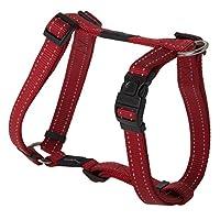 Arnés reflectante ajustable para perros H para perros grandes; Collar y correa a juego disponibles, rojo