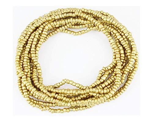 Bead Bracelet Set Stretch (10 Gold Bracelets Seed Bead Stretch Set Pack Beaded Stack Stacking Bracelet Set)