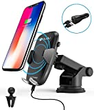 Wireless Car Charger, iDudu Dashboard & Windshield Qi Wireless Charger Car Mount Holder for iPhone X/8/8 Plus and Fast Wireless Charging for Samsung Galaxy S9 S9 Plus S8 Plus S8 S7 Edge Note 8 Note 5