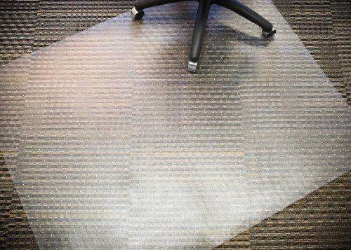 Mammoth Office Products Anti-Static PVC Plastic Chair Mat for Standard Pile (3/8-Inch or Less) Carpeting, 48 x 60 Inches Rectangular (V4660RAS) by Mammoth Office Products