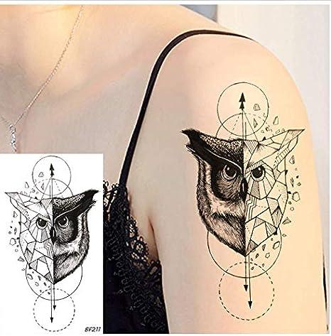 ruofengpuzi Adesivo tatuaggioFalso Tatuaje Negro Etiqueta ...