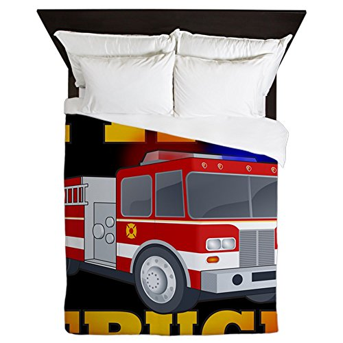 Black 2 Queen Duvet Cover, Printed Comforter Cover, Unique Bedding, Microfiber ()