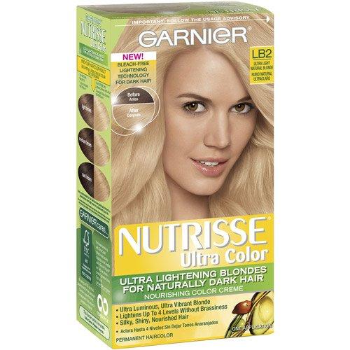 Garnier Nutrisse Ultra Color Couleur de cheveux permanente, Blond naturel LB2 (pack de 3)