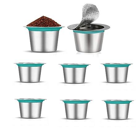 FYManny - 8 cápsulas de Filtro de café de Acero Inoxidable ...