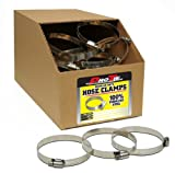 Pro Tie 33841 Regular Duty All Stainless Bulk Hose Clamps, SAE Size 104, Range 6-1/16-Inch-7-Inch, Box of 80