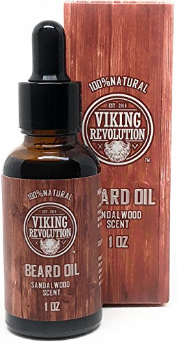 BEST DEAL Beard Oil Conditioner - All Natural Sandalwood Scent with Organic Argan & Jojoba Oils - Promotes Beard Growth - Softens & Strengthens Beards and Mustaches for Men - Types Mustaches Beards Of And