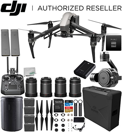 DJI Inspire 2 Raw Drone with Zenmuse X7 + DL & DL-S Lens Set Bundle