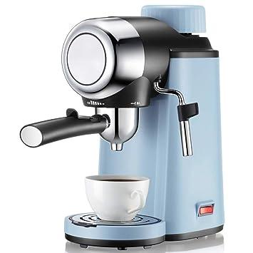 Máquina De Café Espresso Cappuccino Máquina Barra De Vapor Incorporada Y Presión De 5 Bares Botella De Vidrio Negro: Amazon.es: Hogar