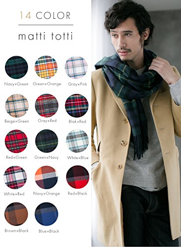 Green X Navy 100% Cashmere Plaid Shawl Stole Men's 2017 Gift Scarves Wrap Blanket B0824B2-8 by matti totti (Image #1)