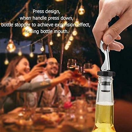 Tapa de Botella de Vino con Palanca Tapones de Botellas Para Champán Cerveza Bebidas Sellador de Botellas de Vino Tapón Manual para Botella de Bebida Reutilizable Tapón para Botellas de Vino 8 Piezas
