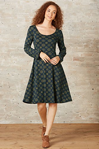Fair Indigo Fair Trade Organic Reverse Neck Dress