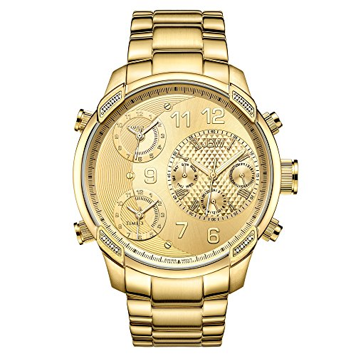 JBW Luxury Men's G4 J6248L 0.16 Karat Diamond Wrist Watch with Stainless Steel Link Bracelet