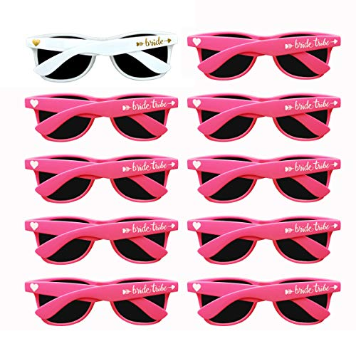 Bridal Shower Favors Bachelorette Party Supplies 10pcs Neon Pink Weddings Sunglasses
