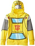 Transformers Little Boys' Bumblebee Character Hoodies, Yellow Silver, 5/6
