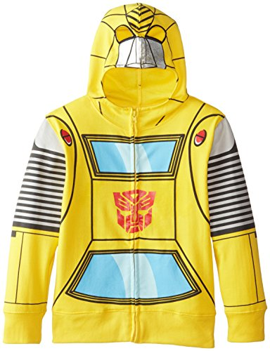 Transformers Little Boys' Bumblebee Character Hoodies, Yellow Silver, 7]()