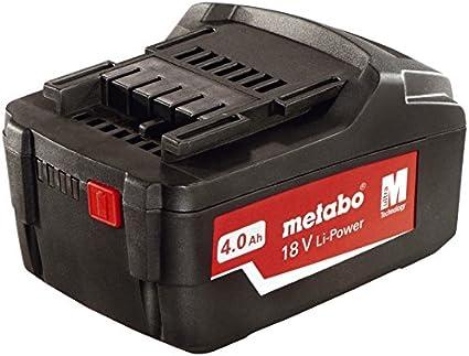 Metabo 625591000 625591000-Bateria corredera tecnologia Air Cooled Litio 18V 4,0 Ah