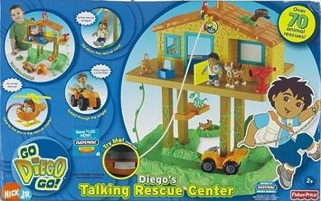 Centro De Rescate Hablando De Fisher Price Diego Toys Games