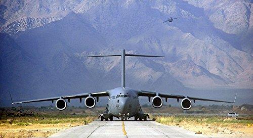 laminated poster military cargo plane