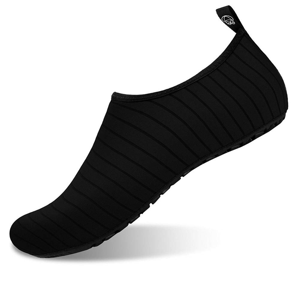 Men and Women Slip-On Water Shoes Lightweight Barefoot Quick-Dry Aqua Yoga Socks For Outdoor Beach Sports(Black,36/37EU) by YALOX (Image #2)