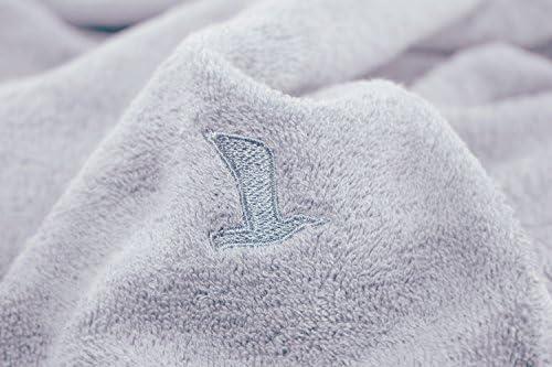 M/öve Superwuschel Uni mit eingesticktem Logo Toalla de Ducha algod/ón Gris 80 x 150 x 2 cm