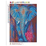 5D Elephant Diamond Painting DIY Embroidery Cross Stitch Craft Needlework Kits Wall Pictures Home Decoration