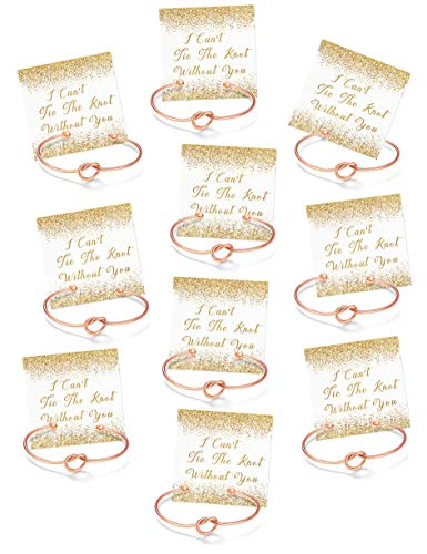 Chicnow Bridesmaid Gifts Bangle Bracelets for Women Set of 10]()