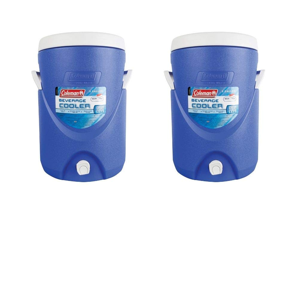 Coleman 5-Gallon Beverage Cooler (Blue 2 Pack)