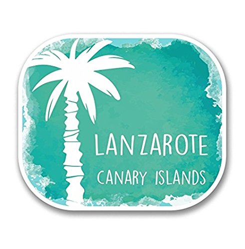 - SMACK THAT STICKERS Lanzarote Island Spain Sticker Car Van Campervan Glass - Sticker Graphic - Sticks to Any Smooth Surface - Cars, Walls, Cellphones, Laptops, Windows