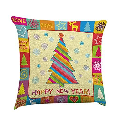 Gotd Bright Color Colorful Christmas Decorations Decor Throw Pillow Case Sofa Waist Throw Cushion Cover Home Decor Square 45cm x 45cm 18inch x 18inch (Ellen D Halloween Costume)