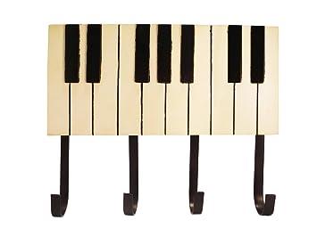 Perchero de pared de madera Piano: Amazon.es: Oficina y ...