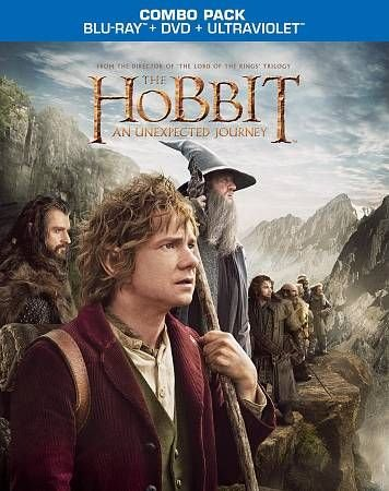 THE HOBBIT AN UNEXPECTED JOURNEY Combo Pack BLU-RAY+DVD+ULTRAVIOLET Set