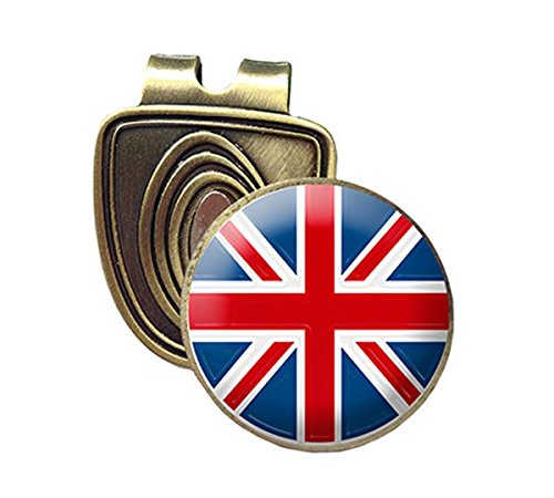 Bronze Fusion Jack - UNION JACK FUSION CAP CLIP AND MAGNETIC GOLF BALL MARKER IN BRONZE BY ASBRI GOLF