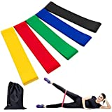 Future Exercise Resistance Loop Bands - Set of 5 ,12 inch Workout Bands With Handy Carry Bag and Instructions Fit Simplify Best for Stretching Physical Therapy Yoga and Home Fitness