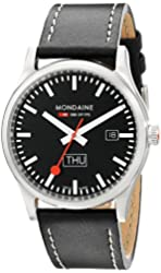Mondaine Sport - day and date - black dial - 41mm -  A667.30308.19SBB