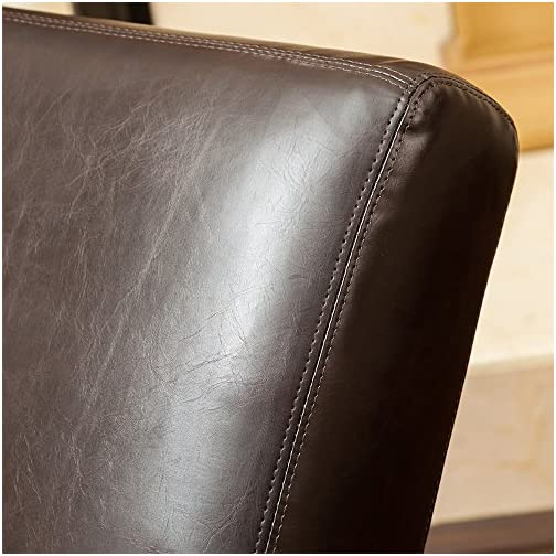 Great Deal Furniture Cleveland Brown Leather Curved Chaise Lounge Chair
