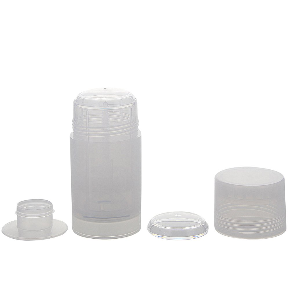 Deo Stick Flasche 75ml, Kosmetex, leer, Kunststoff, nachfüllbar, für selbsthergestellte Deos, tropfsichere Konsistenzen, 3 Stück, 3 Stück nachfüllbar 3 Stück
