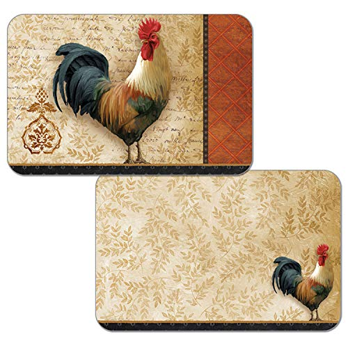 Counterart Reversible Set of 4 Wipe-Clean Decofoam Placemats - Signature Rooster