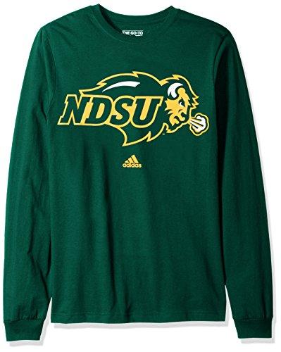 North Dakota Baseball (NCAA North Dakota State Adult men School Logo L/S Tee,Large,Green)