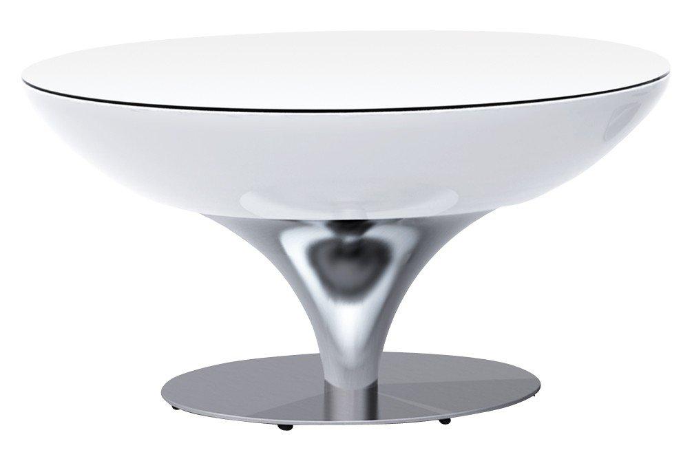 Couchtisch Lounge 45 Wohnzimmertisch Rundtisch Beistelltisch by Moree, Glastischplatte:mit Tischplatte
