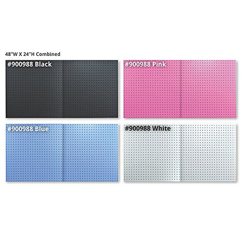 New 48''x24'' White Peg Board Kit Tool Storage Organizer w/Hooks Display Panel by Pegboard (Image #3)