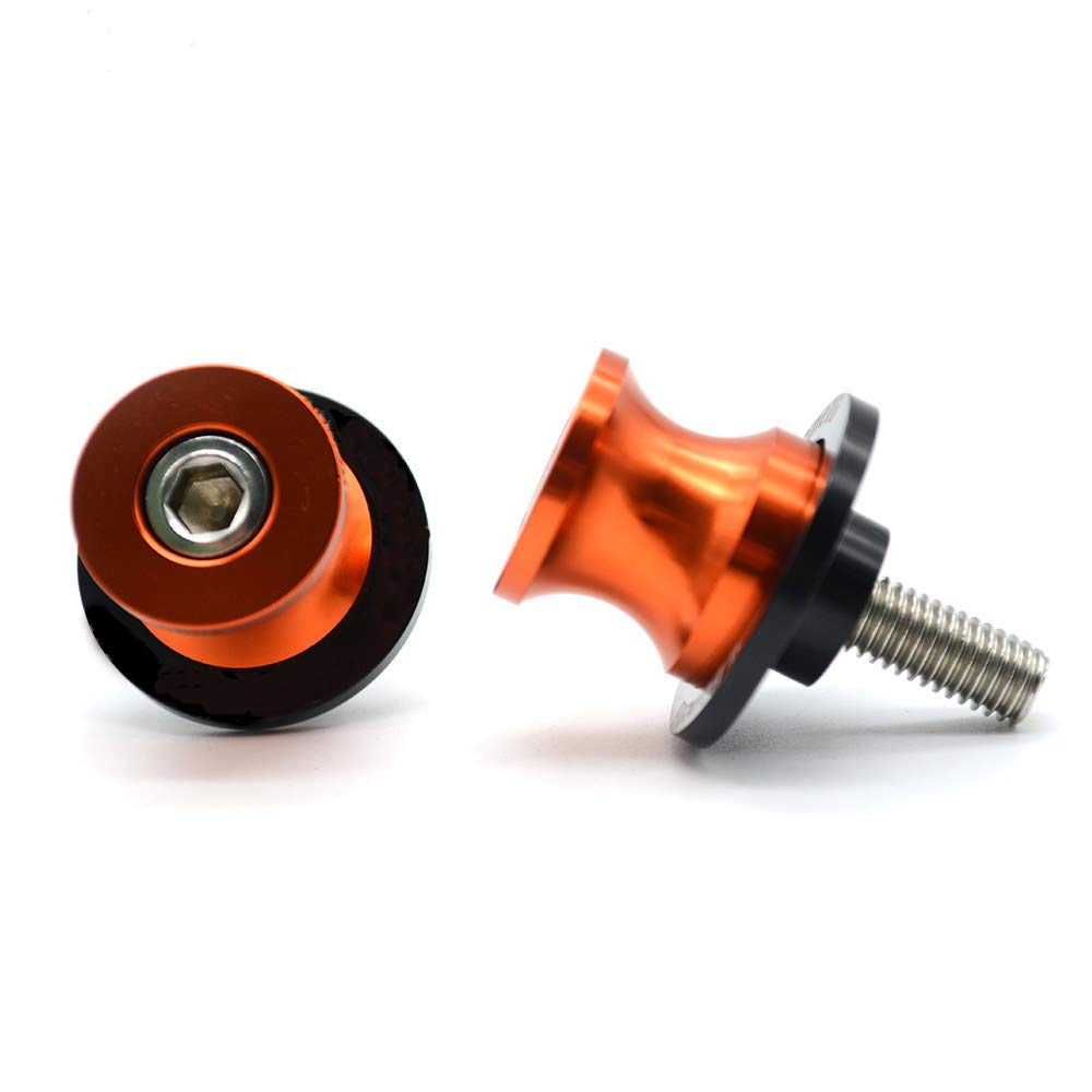 2pac M10 Motorcycle Universal Swing armSliders Spools CNC Swing Arm Stand Screw For KTM Duke Yamaha Kawasaki and More yellow