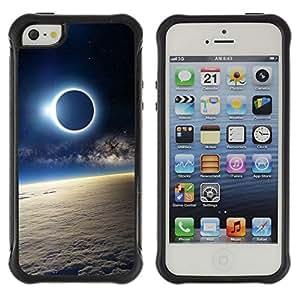 Be-Star único patrón Impacto Shock - Absorción y Anti-Arañazos Funda Carcasa Case Bumper Para Apple iPhone 5 / iPhone 5S ( Space Planet Galaxy Stars 51 )