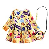 Kemosen Girls Spring Pattern Long Sleeve Princess Party Dress With Cute Bag For Kids 3-8 Years 2018