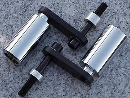 i5 No-Cut Chrome Frame Sliders for Honda CBR1000RR CBR1000 CBR 1000 RR 1000RR 2004-2005 ()