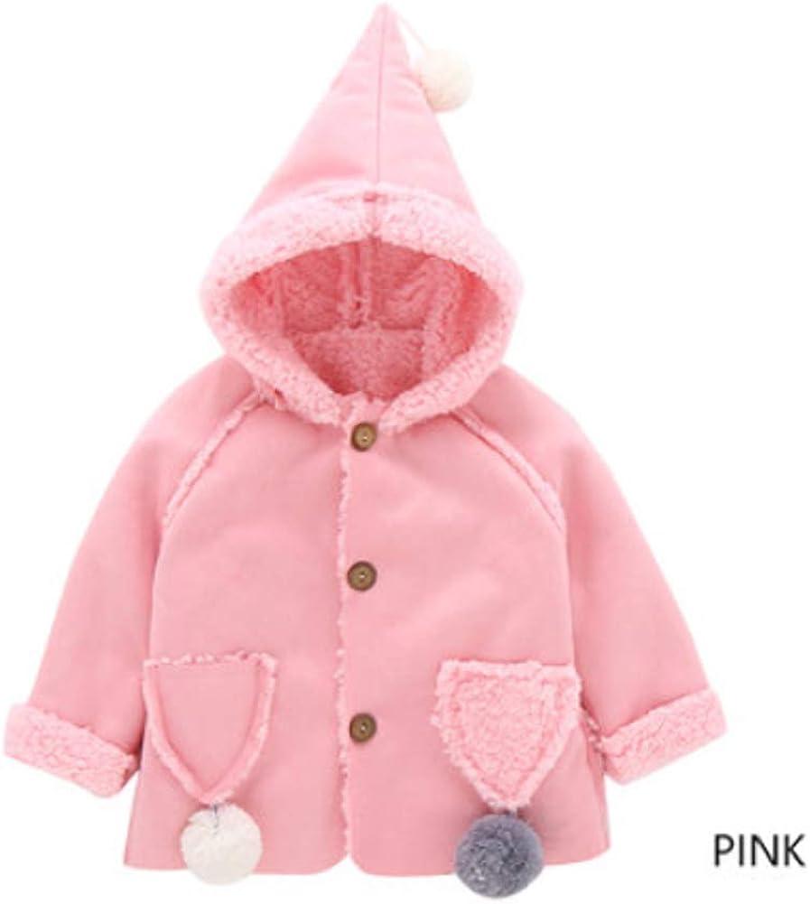 SANDYFU Children Clothing New Girls Outerwear Princess Hooded Kids Winter Long Coat Baby Thickening Warm Wool Blends 1-4y