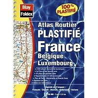 Atlas routier : France - Belgique - Luxembourg (format à spirales, couverture plastifiée et légende en 5 langues)