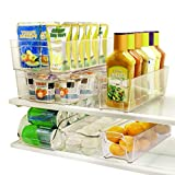 SortWise™ 6-Piece Arcylic Refrigerator Storage Container Bins Fridge Bins and Freezer Organizer Stackable Storage Containers - 1* Egg Holder, 1* Soda Can Holder, 2* Wide Drawers, 2* Narrow Drawers, BPA- Free, Clear View, Easy Access