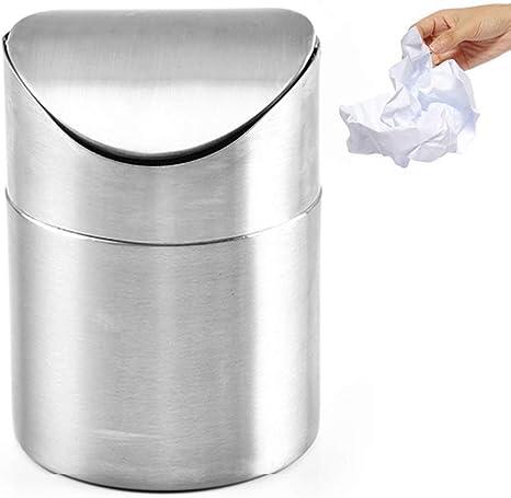 mini papelera con tapa de agitaci/ón Jsgcf Papelera de escritorio cubo de basura peque/ño
